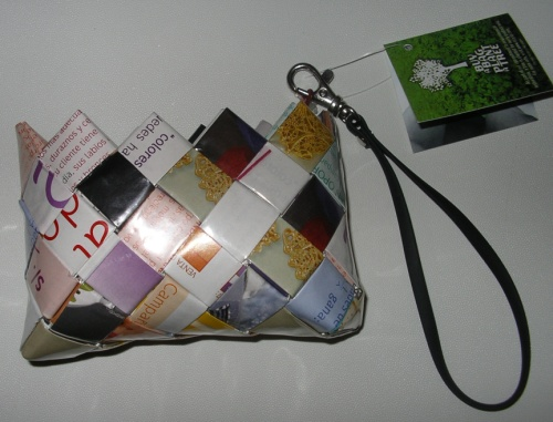 Eccist purses made from magazine waste